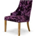 Malmo Purple Scoop Back Deep Crushed Velvet Dining Chairs