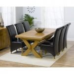 Bordeaux 200cm Oak Extending Dining Table with Kentucky Chairs