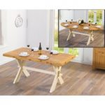 Bordeaux 165cm Oak and Cream All Sides Extending Table
