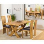 Bordeaux 165cm Oak All Sides Extending Table with Montreal Chairs