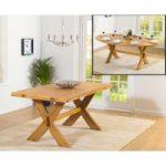 Bordeaux 165cm Oak All Sides Extending Table