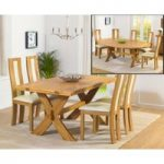 Bordeaux 165cm Oak All Sides Extending Table with Toronto Chairs