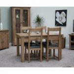 Bramley Oak Extending Dining Table With 4 Dining Chairs