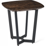 Brown Lamp Table with iron legs
