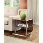 Corsair Walnut and Glass Lamp Table