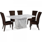 Calabro 160cm Marble-Effect Dining Table with Alpine Chairs