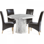 Calabro Octagonal Marble-Effect Dining Table with Cannes Chairs