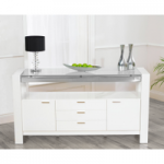 Cannes 160cm High Gloss White Sideboard