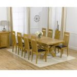 Cheshire 200cm Solid Oak Extending Dining Table with Monaco Chairs