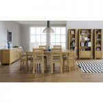 Kotiin Oak 175cm Extending Dining Table with Chairs