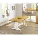 Cavendish 165cm Oak and Cream All Sides Extending Table