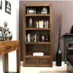 Nishio Solid Walnut 2 Drawer Bookcase