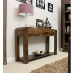 Nishio Solid Walnut Console Table