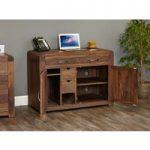 Nishio Solid Walnut Hidden Home Office Desk