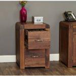 Nishio Solid Walnut Two Drawer Filing Cabinet
