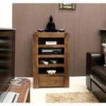 Nishio Solid Walnut Entertainment Unit