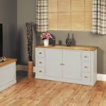 Chadwell Oak and Grey 6 Drawer Sideboard
