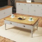 Chadwell Oak and Grey 4 Drawer Coffee Table