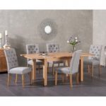 Cheadle 130cm Oak Extending Dining Table with Claudia Chairs