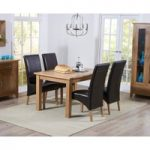 Cheadle 120cm Oak Extending Dining Table with Venezia Chairs