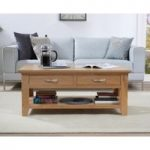 Cheadle Oak Four Drawer Coffee Table