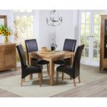 Cheadle 90cm Oak Extending Dining Table with Cannes Chairs