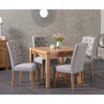 Cheadle 90cm Oak Extending Dining Table with Claudia Chairs