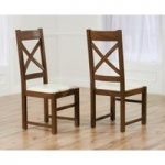 Cheshire Cream Dark Oak Chairs (pair)
