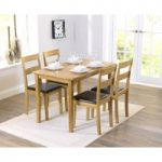 Ex-Display Chiltern Oak Dining Set with 4 Chairs