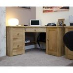 Messina Oak Corner Computer Desk