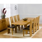 Normandy 150cm Solid Oak Extending Dining Table with Montreal Chairs