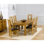 Verona 150cm Solid Oak Extending Dining Table with Louis Chairs