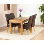 Normandy 120cm Solid Oak Extending Dining Table with Normandy Chairs