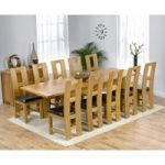 Normandy 180cm Solid Oak Extending Dining Table with Louis Chairs