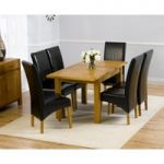Normandy 120cm Solid Oak Extending Dining Table with Venezia Chairs