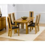 Normandy 120cm Solid Oak Extending Dining Table with Toronto Chairs