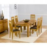 Verona 150cm Solid Oak Extending Dining Table with Monaco Chairs