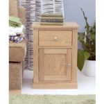 Rhone Solid Oak One Door One Drawer Lamp Table