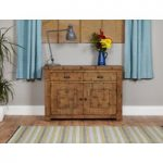 Wellbrook Rough Sawn Oak 2 Drawer 2 Door Sideboard