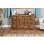 Wellbrook Rough Sawn Oak 6 Drawer 2 Door Sideboard