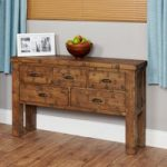 Wellbrook Rough Sawn Oak Console Table