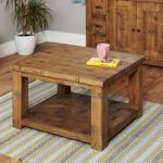 Wellbrook Rough Sawn Oak Open Coffee Table