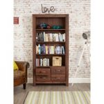 Cordoba Solid Walnut 4 Drawer Bookcase