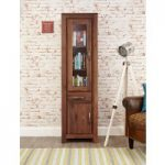 Cordoba Solid Walnut Narrow Glazed Bookcase