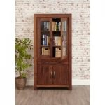 Cordoba Solid Walnut Wide Glazed Bookcase
