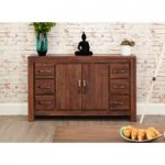 Cordoba Solid Walnut 6 Drawer Sideboard