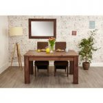 Cordoba Solid Walnut 150cm Extending Dining Table with Chairs