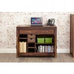 Cordoba Solid Walnut Hidden Home Office