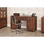 Cordoba Solid Walnut Twin Pedestal Desk