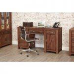 Cordoba Solid Walnut Twin Pedestal Desk